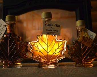 Maple Syrup in Maple Leaf Bottle
