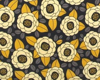 54013-  1/2 yard - Joel Dewberry Aviary 2 Bloom in granite  color -