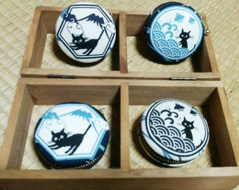 Japanese cat macaroon coin/jewellery case choose from 4 style