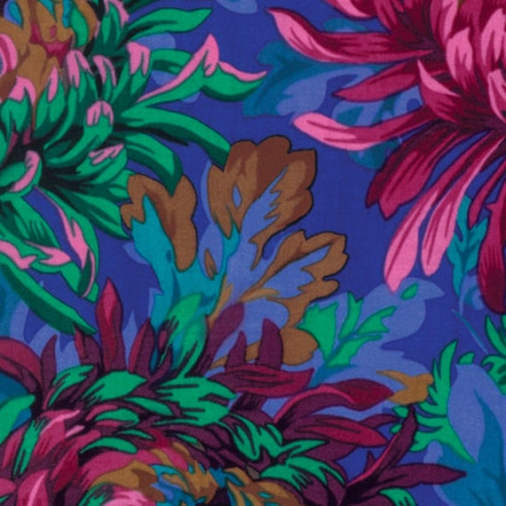 SHAGGY COBALT PJ072 by Philip Jacobs for Kaffe Fassett Collective Sold in 1/2 yd increments