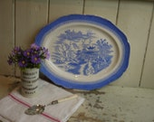 Antique English Blue and ...