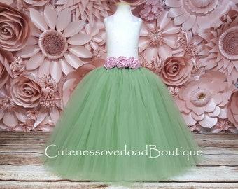 Green Flower Girl Tutu Dress-Green Tutu Dress-Sage Green Tutu Dress-Sage Green Flower Girl Tutu Dress-Vintage Mint Green Tutu-Sequin Dress
