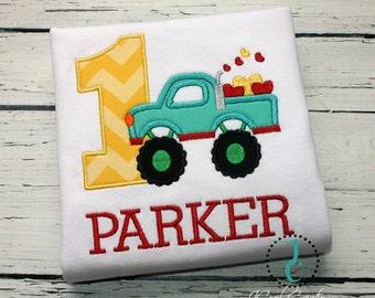 Boys Birthday Shirt, 1st Birthday, Toddler Birthday, Birthday Outfit, Truck Shirt, Baby Birthday, Truck Birthday, Monster Truck Birthday