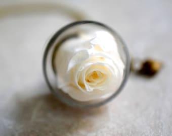 "Real Rose Necklace ""Love Forever"" (VIK-109)"