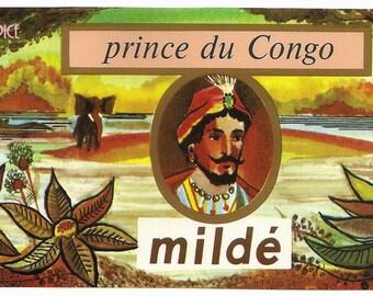 French Vintage Soap Label Prince du Congo jpeg instant digital download