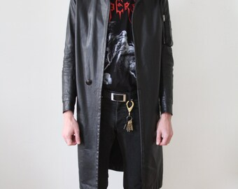 Rick Owens Leather Coat