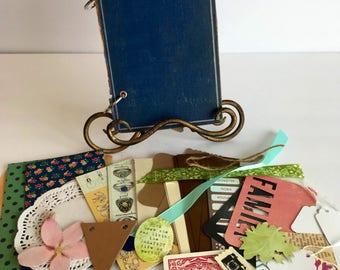 Vintage Handmade Mini Album Smash Book Junk Journal
