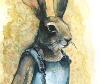 Aunt Bunny - Rabbit Art  large print