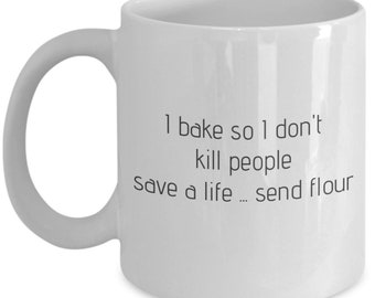 Ironic artisan baking themed mug
