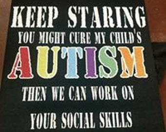 autism t shirt adult and youth