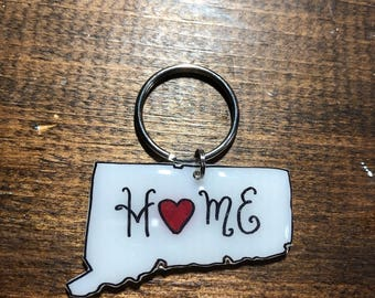 Connecticut Home Keyring