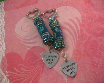 2 Always With Me Beaded Purse Charms Accessories Gift