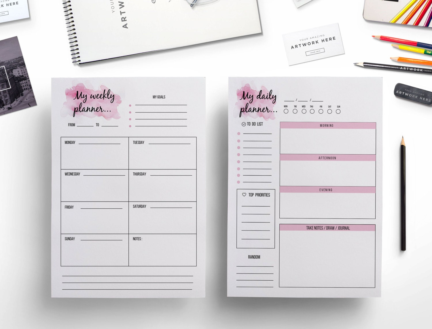 🔎zoom  Agenda Page Template