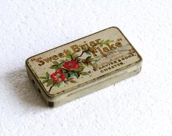Vintage Sweet Briar Flake Fine Virginia Tobacco Tin, Retro Collectible Chester Davies & Sons Tin, Retro English Advertising Tin England 20s