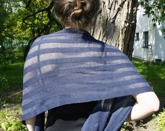 Summer Shawl Mother's Day Birthday Gift - laceweight wool and cotton wrap scarf cape spring echarpe schal
