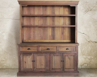 Hutch Buffet Sideboard Reclaimed Wood China Cabinet Handmade Rustic