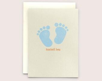 "Buachaill Beag - Irish language Greeting Card translates as ""Little Boy"""