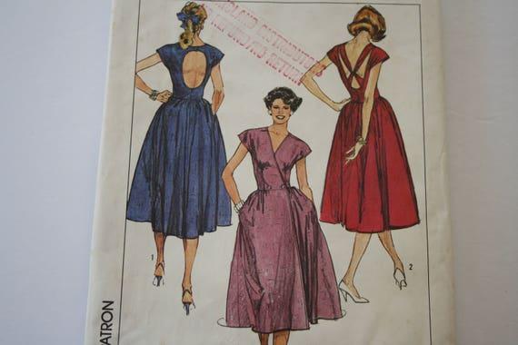Front Wrap Dress Pattern, Women\'s Easy to Sew Sewing Pattern, UNCUT ...