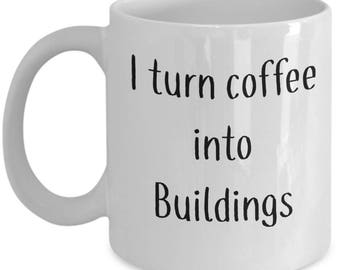 Architect |  Coffee Mug |  Gift for Construction worker | Builder Cup