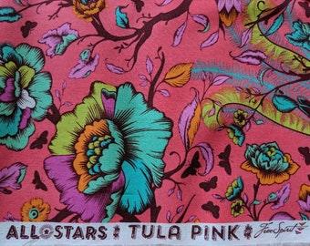 Tail Feathers Poppy - Tula Pink All Stars - Free Spirit - Sold in 1/2 Yard Increments
