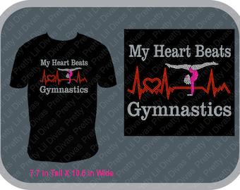 My heart beats for gymnastics shirt