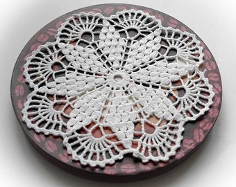 Crochet doily White cotton doily Handmade lace doily White crochet doilies Hand crocheted doily 50
