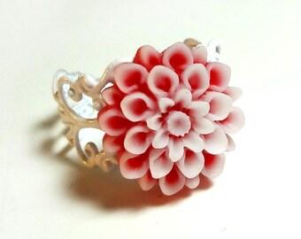 Red Chrysanthemum Ring