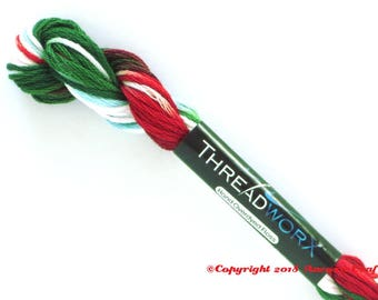 Variegated Embroidery Floss ThreadworX 1086 Christmas Candy