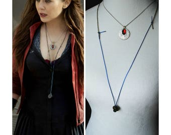 Scarlet Witch Necklace - Movie Replica - Cosplay - Scarlet Witch Cosplay - Wanda Maximoff  - The Avengers - Age Of Ultron