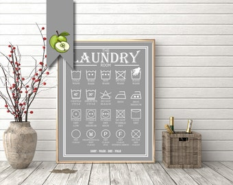 Laundry room sign, laundry print, printable poster, large format, home decor, Large size, kitchen art, utility room art, laundry room, wall