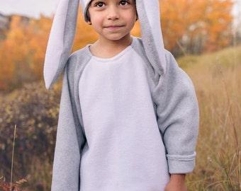 2 Piece Floppy Ear Bunny Rabbit Halloween Costume Custom Made Your Choice Of Colors