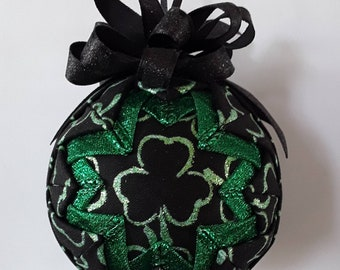 3 Leaf Clover St. Patrick's Day Quilted Ornament