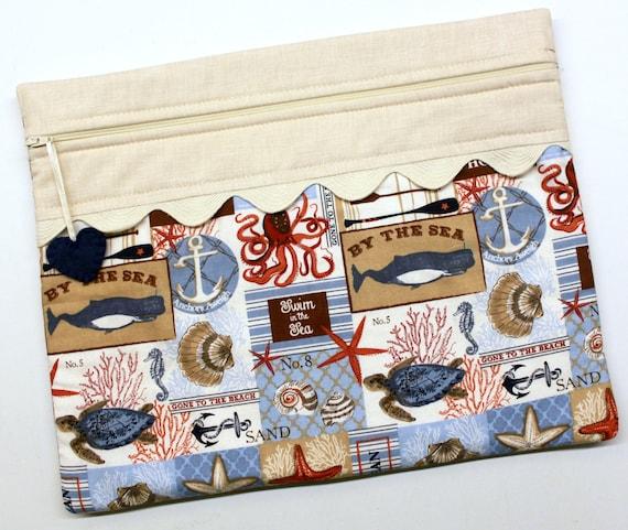 Beach House Cross Stitch Project Bag