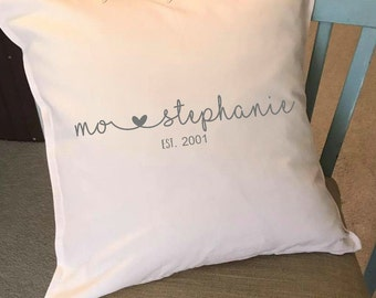 Custom Pillow, monogram pillow, couch pillow, throw pillow, wedding gift, gifts,  personalized pillow, 20x20 pillow, initial pillow, initial