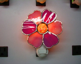 Night Light - Flower Nightlight - Pick Your Own Colors Flower Nightlight - Petaled Flower Nightlight