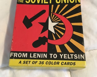 Soviet Union - The Rise and Fall - Trading Cards Set Vintage Rare Collectible