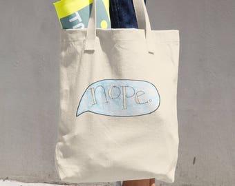 Blue Nope Tote Bag