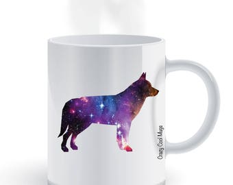Siberian Husky Nebula Coffee Mug, Nebula, Dog coffee mug
