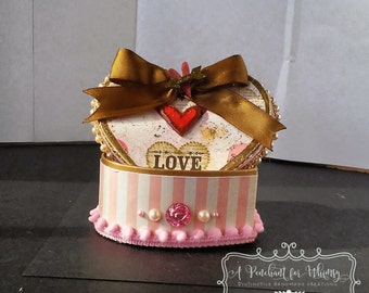 Small Heart Shaped Gift Box/Jewelry Box/Trinket Box