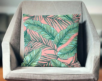 Tommy Bahama Pillow   Tropical Palm Pillow   Tropical Throw Pillow   Tropical Cushion   Tropical Pillow Cover   Tropical Pillow Case