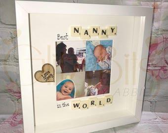 Best Nanny In The World Scrabble Frame