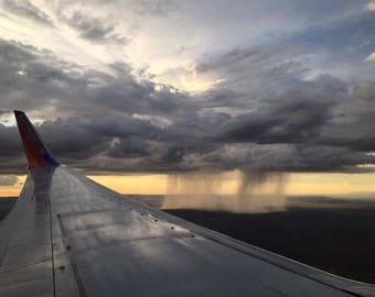 Rainstorm in the distance