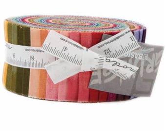 Grunge Jelly Roll, 2-1/2-inch Fabric Strips - By Basic Grey for Moda Fabrics - 40 strips per roll - 30150N3 JR - New 2017
