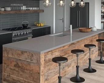 Quartz Kitchen Island Worktop counter Concrete Grey 3000mm x 900mm