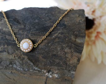 Simple Gold Layering Necklace