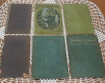 Antique Book Boards For Art Making Lot of 6