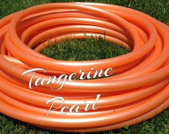 "Tangerine Pearl Roll of 3/4"" or 5/8"" Colored PolyPro hula hoop tubing - Make your own hoops!  50 ft or 100 ft"