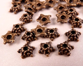 Bead Caps Brass Bead Caps 30 5mm Bead Caps Brass Findings Brass Spacers