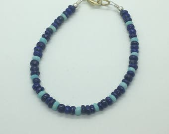 Opal and lapis bracelet