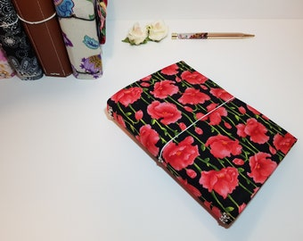 B6 Travelers Notebook - Poppy Fabric
